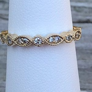 .14 ctw fine diamond eternity style band 14 kt YG